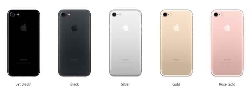 iPhone7のカラ‐は黒色が2色追加されました。
