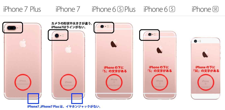 iPhone7とiPhone6sのデザインの違い