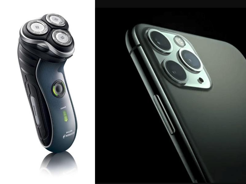 iPhone11は電動シェーバーに似ている。